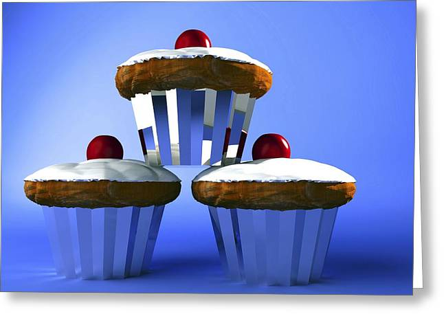 Cup Cakes Greeting Cards - Cakes Greeting Card by Christian Darkin