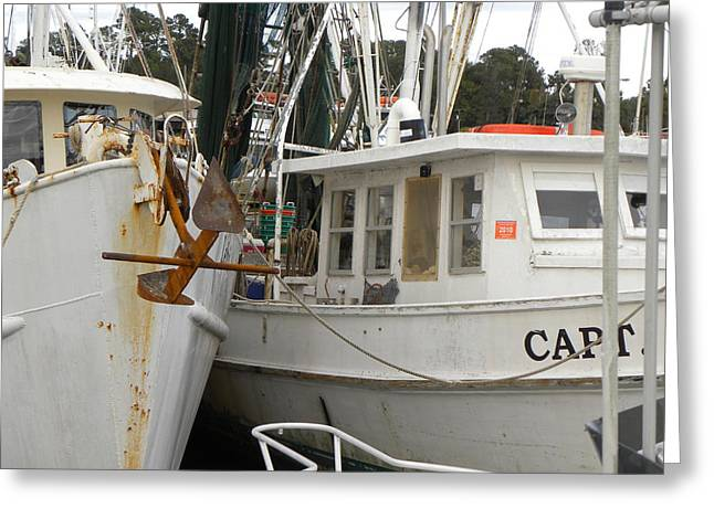 Fishing Boats Greeting Cards - Calabash Boats Greeting Card by Larry Bishop