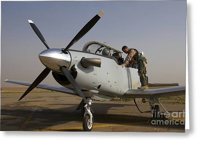 Cob Speicher Greeting Cards - Camp Speicher, Iraq - U.s. Air Force Greeting Card by Terry Moore