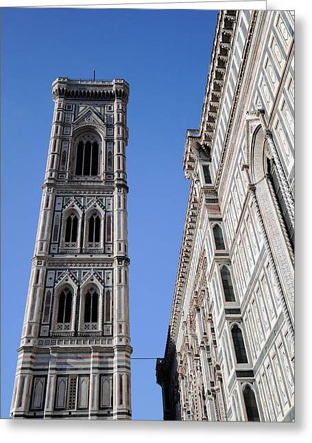 Giotto Greeting Cards - Campanile Florence Greeting Card by Gary Eason
