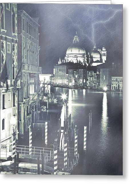 Santa Maria Della Salute Greeting Cards - Canal Grande Greeting Card by Joana Kruse