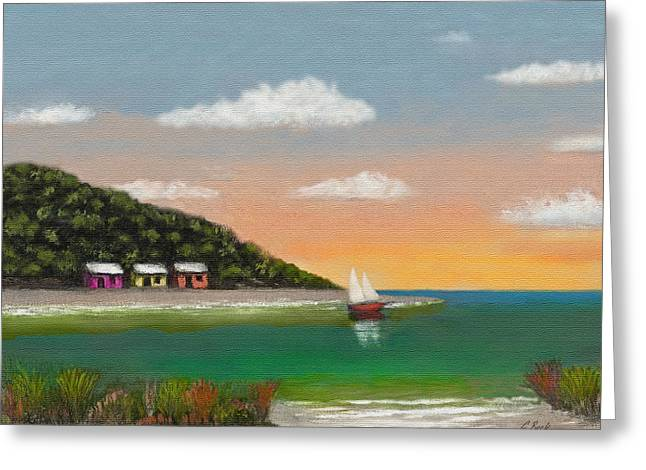 Ocean Vistas Greeting Cards - Canary Cove Greeting Card by Gordon Beck