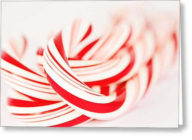 Hard Candies Greeting Cards - Candy Canes Greeting Card by Kim Fearheiley