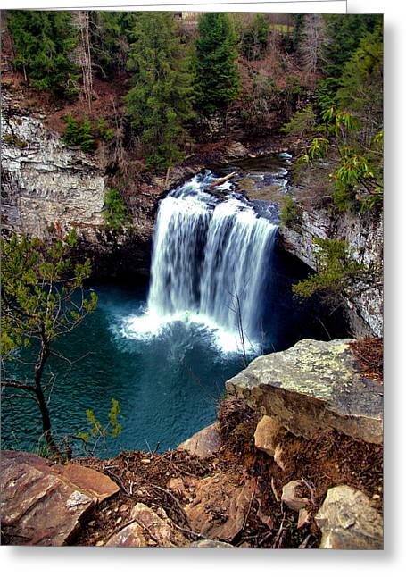 Cane Creek Greeting Cards - Cane Creek Falls Greeting Card by Matthew Winn