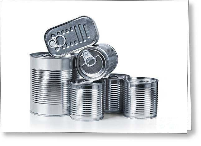 Labelled Greeting Cards - Canned food Greeting Card by Carlos Caetano