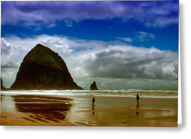 Cannon Beach at Dusk Greeting Card by David Patterson