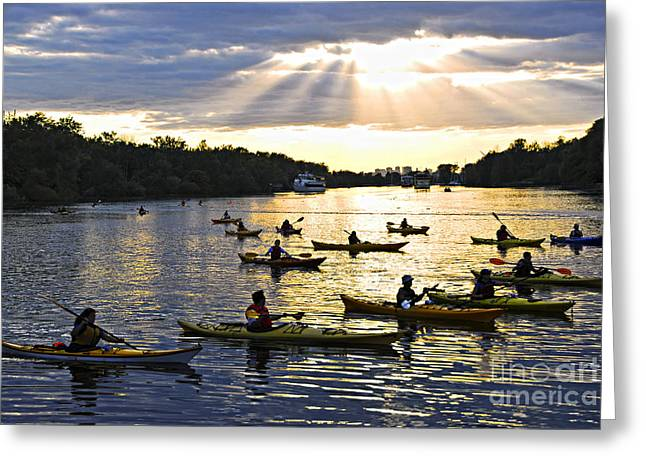 Canoeing Photographs Greeting Cards - Canoeing Greeting Card by Elena Elisseeva