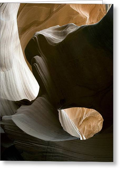 Canyon Photographs Greeting Cards - Canyon Sandstone Abstract Greeting Card by Mike Irwin
