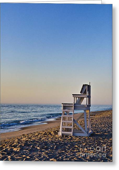 Nauset Beach Greeting Cards - Cape Cod Lifeguard Stand Greeting Card by John Greim