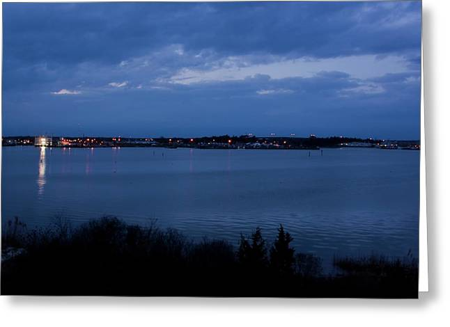 The Nature Center Greeting Cards - Cape May Harbor Greeting Card by Tom Singleton