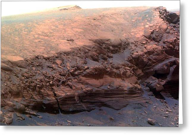 Victoria Crater Greeting Cards - Cape Verde, Mars Greeting Card by Nasa
