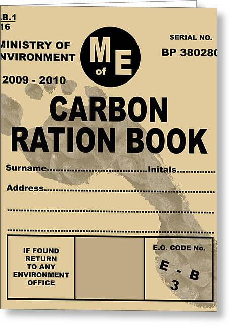 Carbon Dioxide Greeting Cards - Carbon Rationing, Conceptual Image Greeting Card by Victor De Schwanberg