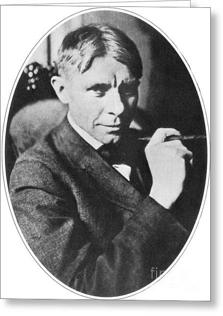 Pulitzer Greeting Cards - Carl Sandburg, American Poet Greeting Card by Photo Researchers