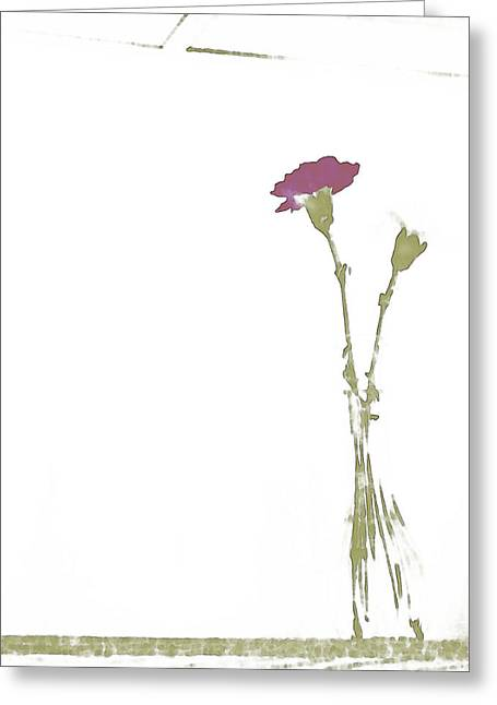 Subtle Colors Greeting Cards - Carnations Greeting Card by Lenore Senior