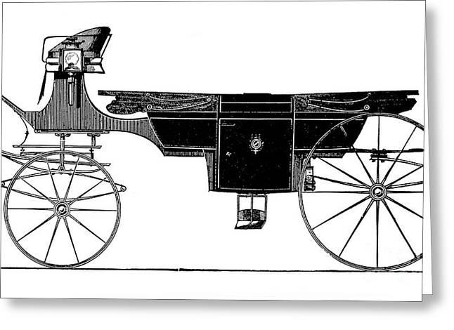 1876 Greeting Cards - Carriage: Landau Greeting Card by Granger