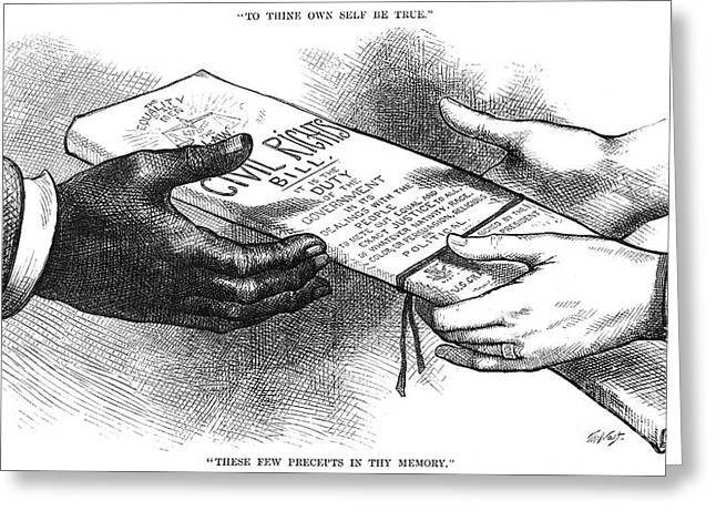 Nast Greeting Cards - Cartoon: Civil Rights 1875 Greeting Card by Granger