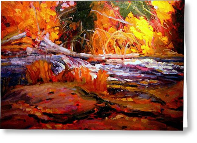 All Landscape Greeting Cards - Cascade Greeting Card by Brian Simons