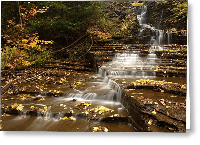 Buttermilk Falls Photographs Greeting Cards - Cascade Greeting Card by Eric Foltz