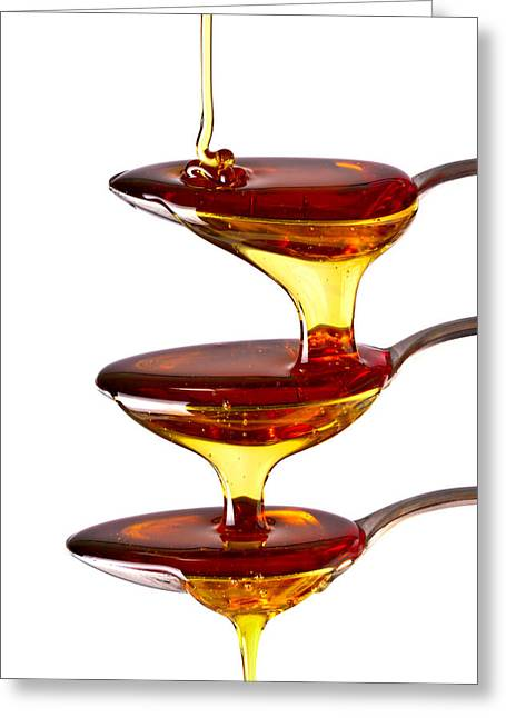 Syrup Greeting Cards - Cascading Greeting Card by Gert Lavsen
