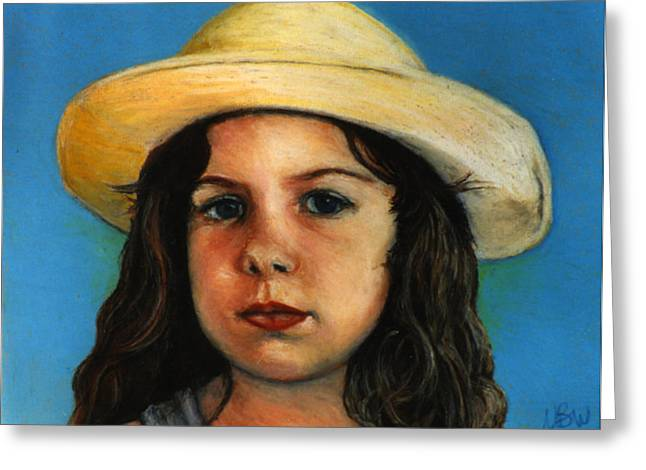 Innocence Child Pastels Greeting Cards - Casey Greeting Card by Neal Binder-Wheeler