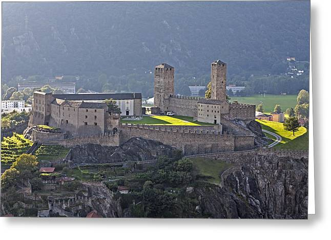 Castel Greeting Cards - Castel Grande - Bellinzona Greeting Card by Joana Kruse