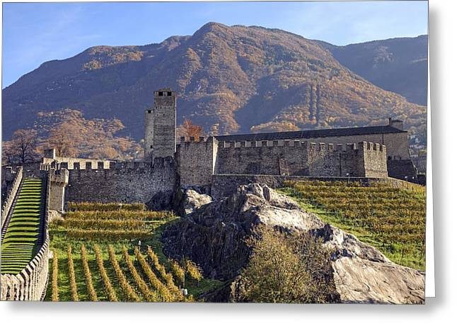 Castelgrande - Bellinzona Greeting Card by Joana Kruse