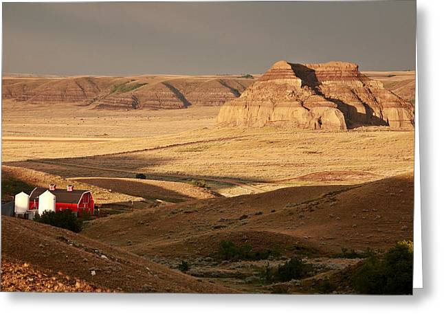Summer Scene Greeting Cards - Castle Butte in Big Muddy Valley of Saskatchewan Greeting Card by Mark Duffy
