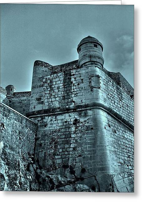 Altstadt Greeting Cards - Castle of Peniscola - Spain Greeting Card by Juergen Weiss