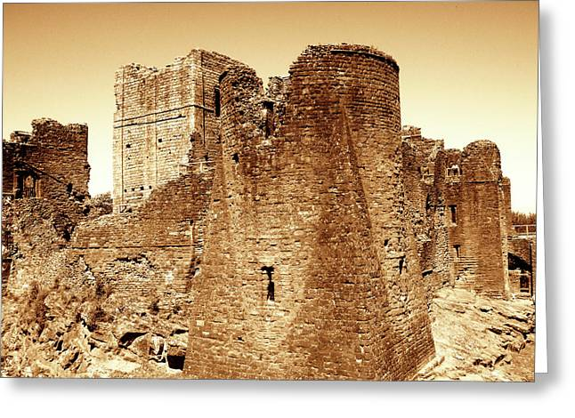 Roberto Alamino Greeting Cards - Castle Ruins Greeting Card by Roberto Alamino