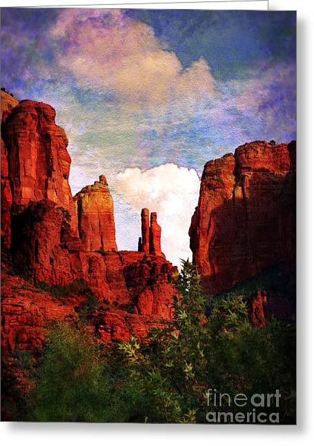 Cathedral Rock Digital Greeting Cards - Cathedral Rock Greeting Card by Afrodita Ellerman