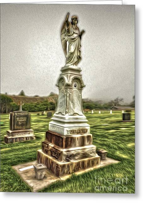 Cayucos Cemetery - 01 Greeting Card by Gregory Dyer
