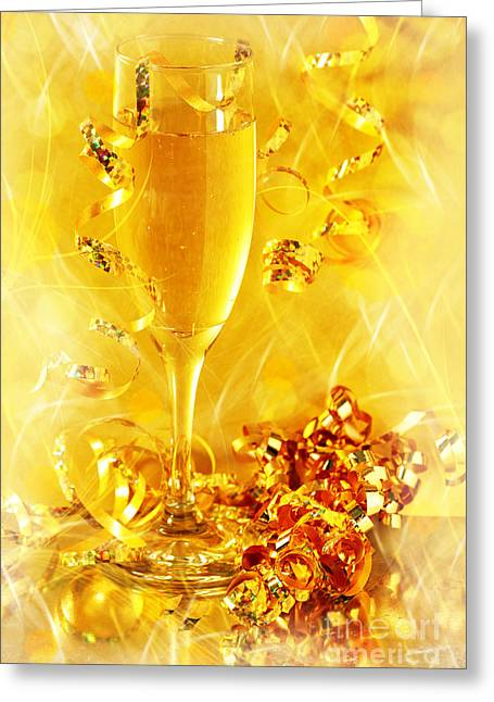 Alcohol Greeting Cards - Celebration Greeting Card by HD Connelly