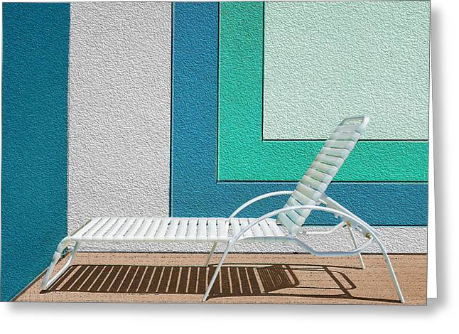 Chaise Lounges Greeting Cards - Chaising Greeting Card by Paul Wear