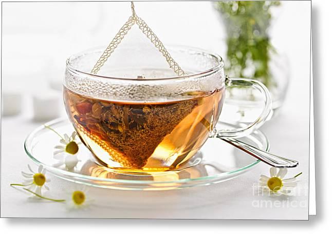 Chamomile tea Greeting Card by Elena Elisseeva