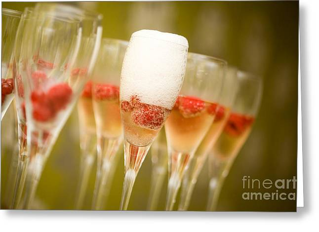 Toast Greeting Cards - Champagne Greeting Card by Kati Molin