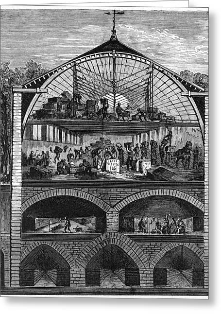 Champagne Production, 19th Century Greeting Card by Cci Archives