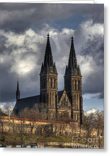 Cityspace Greeting Cards - Chapter Church of St Peter and Paul Greeting Card by Michal Boubin