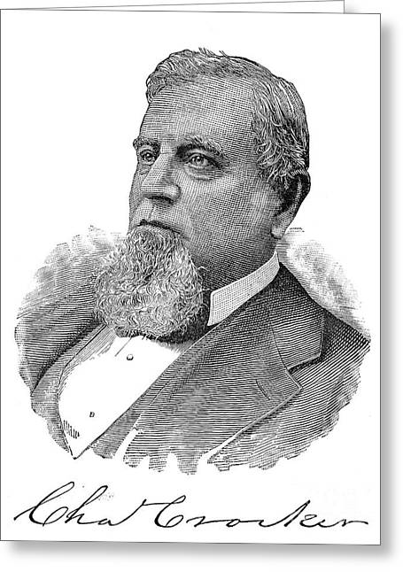 1880s Greeting Cards - Charles Crocker (1822-1888) Greeting Card by Granger