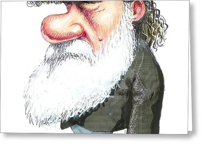 Charles Darwin, Caricature Greeting Card by Gary Brown