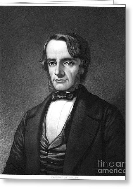 Sideburns Greeting Cards - Charles Kingsley (1819-1875) Greeting Card by Granger
