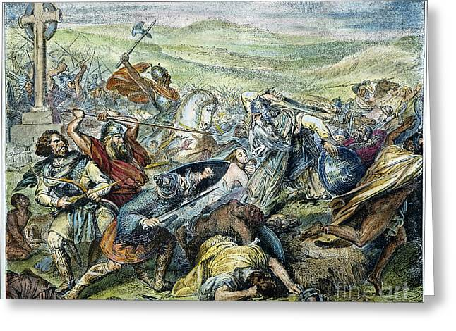 Saracen Greeting Cards - CHARLES MARTEL (c688-741) Greeting Card by Granger