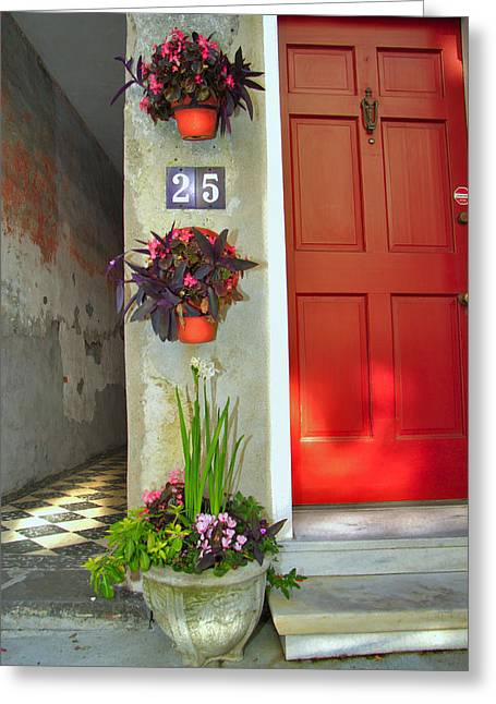 Charleston Home Series Greeting Card by Wendy Mogul