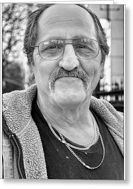 Candid Portraits Greeting Cards - Charley Howard Greeting Card by Robert Ullmann