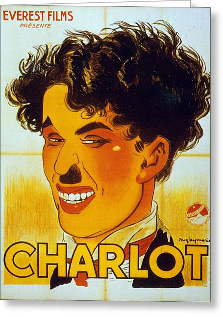 Chaplin Poster Greeting Cards - Charlie Chaplin Poster Greeting Card by Granger