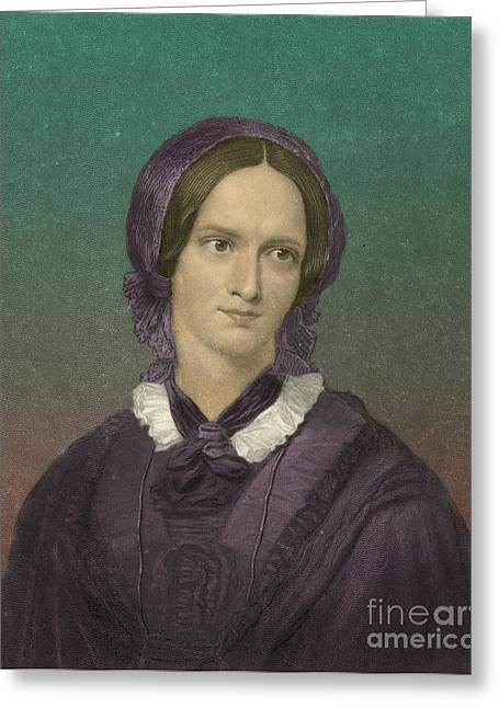 Charlotte Greeting Cards - Charlotte Bronte, English Author Greeting Card by Photo Researchers