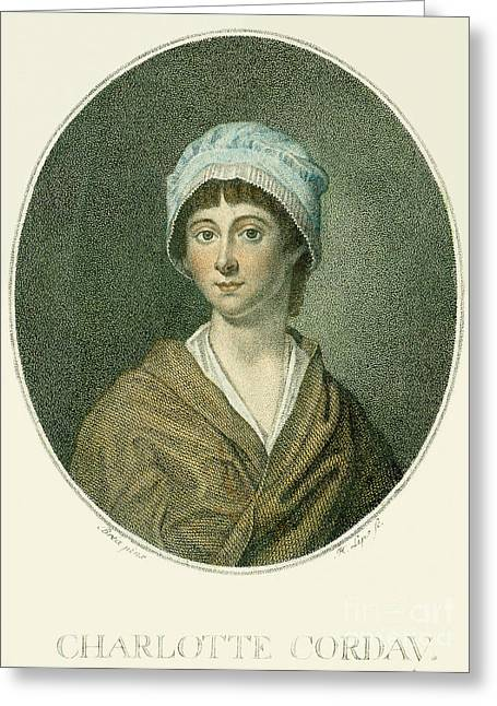 Charlotte Photographs Greeting Cards - Charlotte Corday Greeting Card by Granger