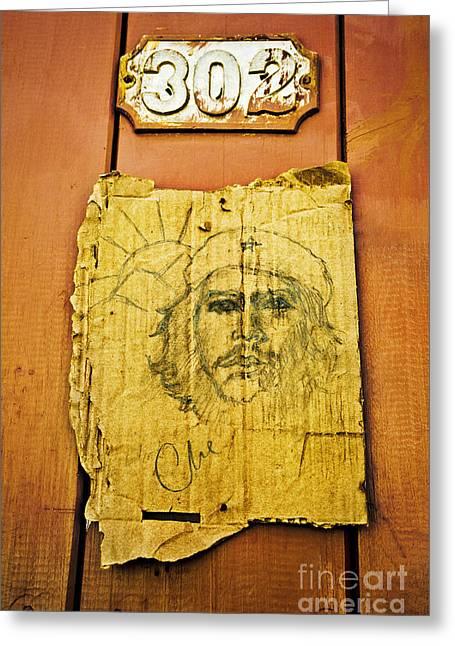 Counterculture Photographs Greeting Cards - Che Guevara Greeting Card by Greg Stechishin