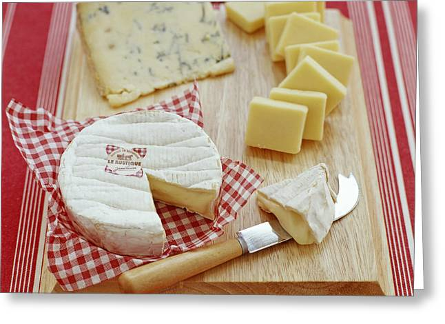 Cheese Selection Greeting Card by David Munns