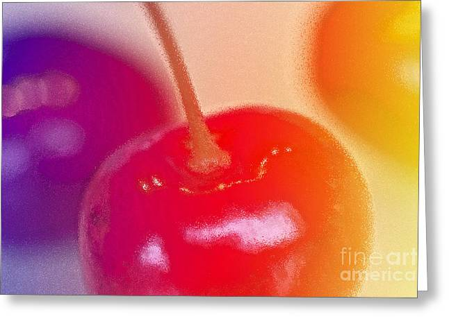Digital Modified Greeting Cards - Cherry Still Life Greeting Card by Heiko Koehrer-Wagner