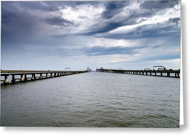 Chesapeake Bay Bridge Greeting Cards - Chesapeake Bay Bridge Maryland Greeting Card by Brendan Reals